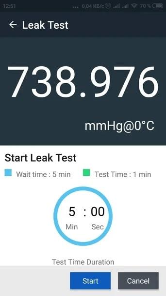 DPS-8100 leak test