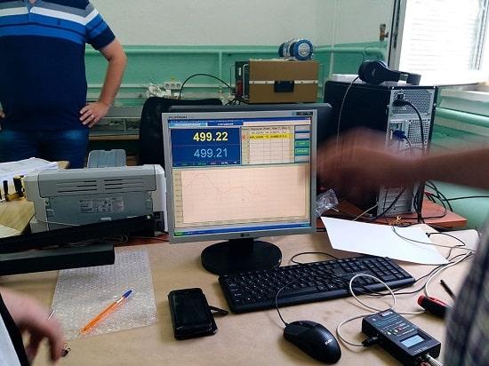Показания поверосного термостата Fluke 6050H