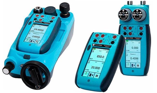 GE Druck DPI 620 и станция давления PV622, DPI620 и держатель модулей MC620, с модулями PM620