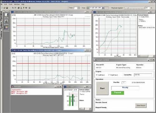 Пользовательский интерфейс системы контроля вибрации типа 3641