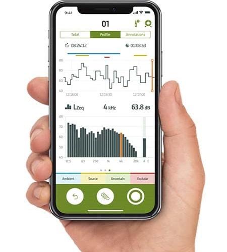 Измеритель уровня шума 2245-E мобильное приложение