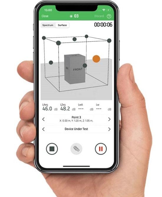 Измеритель уровня шума 2245-P. Мобильное приложение